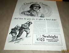 SEALRIGHT-[Orig.W.W.2 Era Ad}]-<1944>-SANITARY PAPER CONTAINERS FOR WAR USE