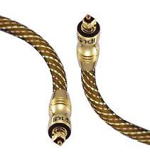 5m Cable de audio digital óptico TOSLINK maestro 6mm SPDIF Av amplificadores de plomo