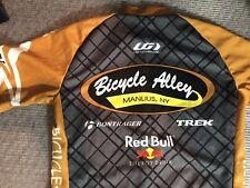 Men's Small Womens Large Louis Garneau Cycling Shirt Red bull Lance Armstrong