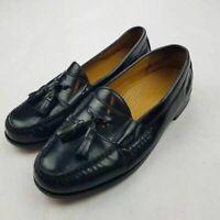 Cole Haan Mens Pinch Tassel Loafer Dress Shoes Black Moc Toe Slip Ons 8 E