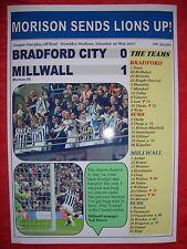 Bradford City 0 Millwall 1 - 2017 League One play-off final - souvenir print
