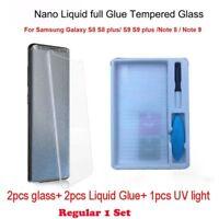 Screen Protector Nano Liquid Glue Tempered Glass For Samsung Galaxy Note S8 S9