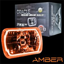 "ORACLE 7""x6"" Sealed Beam Single Headlight + ORACLE Pre-Installed Amber SMD Halo"