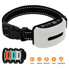 Electric Dog Shock Collar Rechargeable Waterproof Anti Bark Pet Training Control