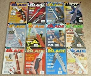 12 BLADE Magazines Knives Complete Year 2003 Vol 30 Issue 1-12 Uncirculated NOS