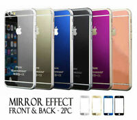 MIRROR EFFECT FRONT&BACK TEMPER GLASS SCREEN PROTECTOR FOR APPLE IPHONE 6/6plus
