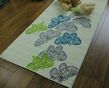 Aspect Butterfly Rug for Kids Girls Room/playroom Polyester Multi-colour 80