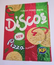 More details for crisp packet kp discos unusual pizza flavour 1993. great condition. collectible.