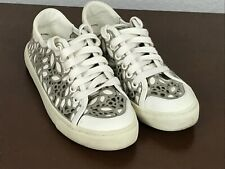 Tory Burch Women's Size 5.5 M Natural Rhea Lace-Up Sneakers Shoes