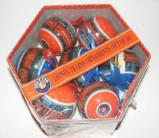 LIONEL TRAINS 14 CHRISTMAS ORNAMENTS WITH STORAGE BOX-NEW- 9-21011__
