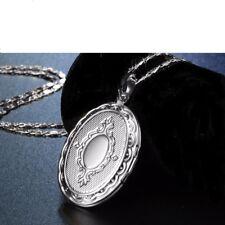 925 SILBER PL. Damen 2 Fotos Medaillon zum öffnen Medallion Anhänger mit Kette