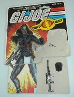Lot 1984 GI Joe Cobra Baroness Complete Accessories Gun Backpack File Card Back