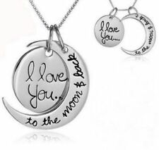Modeschmuck-Halsketten & -Anhänger aus Metall-Legierung mit Herz-Familie - & Freunde-Thema