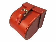 "Maine-Made Best Leather ""Pierce"" Fly Reel Case, Hand Crafted and Shearling Lined"