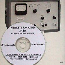 Hp Hewlett Packard 342a Noise Figure Meter Operating Amp Service Manual