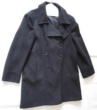 WOMEN'S SIZE 24, BLACK, DOUBLE-BREASTED COAT BY CLASSIC LONDON!
