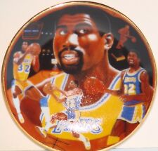 "EARVIN ""MAGIC"" JOHNSON L A Lakers Gartlan USA 3 1/4"" Plate 1989 ""The Magic Show"""