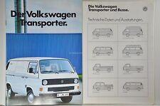 VW Volkswagen BUS Transporter T3 Doka Syncro, Pritsche Prospekt 01/1986 + Daten