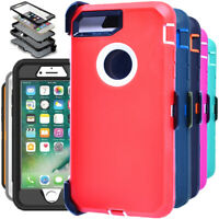 For iPhone 7/ 8 Plus Hard Case Shockproof Heavy Duty Rugged Cover With Belt Clip