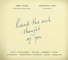 GENEVIEVE,LACEY / CRABB,JAMES-HEARD THIS & THOUGHT OF YOU  CD NEW&SEALED