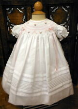 Beautiful Will'Beth White and Pink Short Sleeve Bishop 18 Month