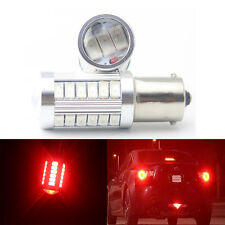 2Pcs Red 1141 1095 1156 BA15S P21W 5730 33SMD LED Turn Signal Light Bulb 12V 24V