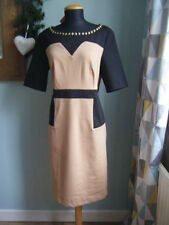 ⭐ Ladies Together @ Kaleidoscope Black and Camel Colour Block Dress Size 12