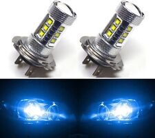 LED 80W H7 Blue 10000K Two Bulbs Head Light Low Beam Replace Lamp Show Use