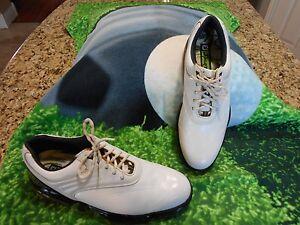 Footjoy FJ Sport Golf shoes Men SZ 12 M U.S.A. FLEX ZONE Platform White & Black
