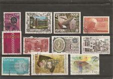 lot de 11 timbres oblitérés EUROPA : norvège allemagne france finlande
