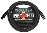 10ft PigHog XLR 3-Pin M/F 8mm/OD High performance Microphone Cable, XR-0010P