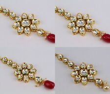 Ethnic Indian Fashion Jewelry Pachi kundan Wedding Forehead Maang Tikka Women
