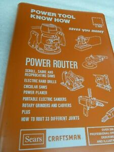 1977 Sears Craftsman Power Tool Know How Power Router Illustrated Manual Vintage