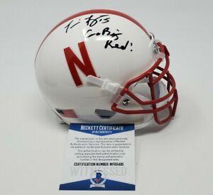 Nebraska Tommie Frazier Go Big Red Signed Autographed Schutt White Mini Helmet