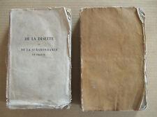 LABOULINIERE 2 Vol DE LA DISETTE ET DE LA SURABONDANCE EN FRANCE LE NORMANT 1821