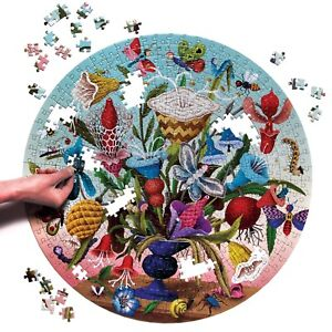 Crazy Bug Bouquet 500 Piece Round Jigsaw Puzzle by eeboo