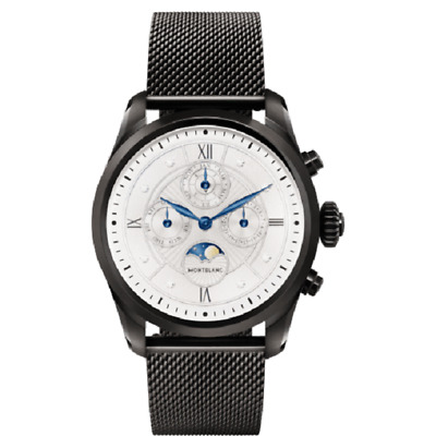 Montblanc Summit 2 Black Steel Milanese Edition Men's Sport Swiss Smartwatch