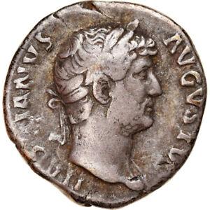 [#907180] Coin, Hadrian, Denarius, Rome, VF(20-25), Silver, Cohen:390