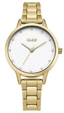 Oasis Women's Quartz Watch with White Dial Analogue Display and Gold Alloy
