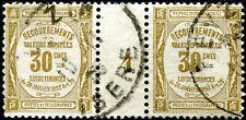 FRANCE TAXE N° 46 Oblitéré EN PAIRE AVEC PONT MILLÉSIMÉ 4 (1924)