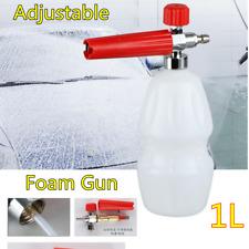 "1/4"" Car Adjustable Pressure Water Foam Wash Pump Jet Gun Spray Cannon Bottle 1L"