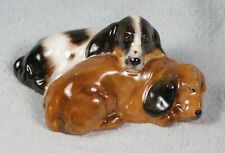 Royal Doulton Pair of Sleeping Cocker Spaniels - Hn 2590S - Retired