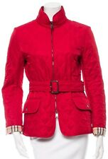 $895 NWT Burberry London Nova Check Coat Jacket Military Red SMALL 4