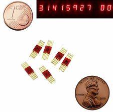 6 pcs 7 segment LED Display Numeric Red Digital Gold pins L104G = SEL620 USSR