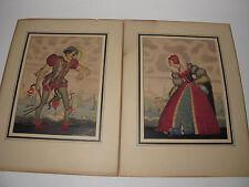 1950's 2 Orig Signed Paintings 38 Yr Disney Animator Art 'Kate & Petruchio' #15