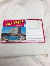 """Souvenir Post Card Folder – Las Vegas, Nev. """"Fabulous Strip"""" (Teich, 1957)"""
