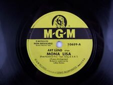 "Art Lund – Mona Lisa / When My Stage Coach Reaches Heaven 78RPM 10"" Vinyl Record"