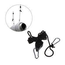 2Pcs Adjustable Solide Rope Ratchet Heavy Duty  Metal Gear Grow Light Hanger Kit