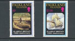 Falkland Islands 1993 SG 885-6 Launch of  SS Great Britain Ships MH