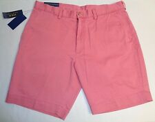 """Polo Ralph Lauren Size 36 36W CLASSIC FIT 9"""" ADR BRY Red Cotton Shorts New Mens"""